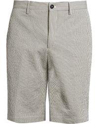 Ermenegildo Zegna - Striped Seersucker Straight-leg Shorts - Lyst