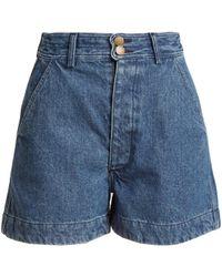 Apiece Apart - Cotton-denim Shorts - Lyst