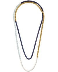 Lucy Folk - Naturalist Silver And Steel Necklace - Lyst
