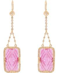 Jade Jagger - Diamond, Ruby & Yellow-gold Earrings - Lyst