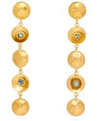 Sylvia Toledano - Multi Disc Sea Opal Earrings - Lyst