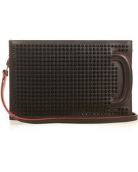 Christian Louboutin - Trictrac Small Spike-embellished Leather Tote - Lyst