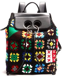 JW Anderson - Pierce Crochet And Leather Backpack - Lyst
