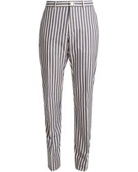 CONNOLLY - Striped Straight-leg Cotton Trousers - Lyst