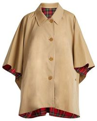 Burberry - Reversible Wool-twill Cotton-gabardine Cape - Lyst