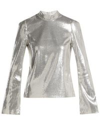 Galvan London - Galaxy Long Sleeved Sequined Top - Lyst