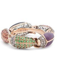 Bibi Van Der Velden - Scarab Rose-gold Eternity Ring - Lyst