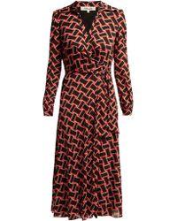 Diane von Furstenberg Robe portefeuille Phoenix - Noir