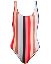 Solid & Striped - The Anne-marie Striped Scoop-back Swimsuit - Lyst