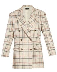 Isabel Marant - Telis Double-breasted Checked Jacket - Lyst