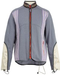 Lanvin - Contrast-panel Technical Track Jacket - Lyst