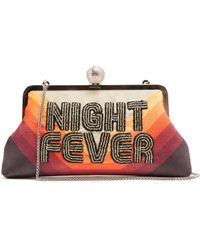 Sarah's Bag - Night Fever Bead-embellished Clutch - Lyst