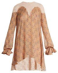 Katie Eary - Snake-print Silk-chiffon Dress - Lyst