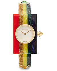 Gucci - Plexiglas Watch With Rainbow, 24x40mm - Lyst