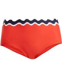 RYE SWIM - Sunny Scallop Edged High Rise Bikini Briefs - Lyst