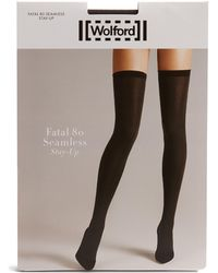 Wolford - Fatal Stay-up Tights - Lyst