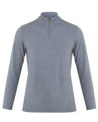 Faherty Brand - Half-zip Cotton-blend Top - Lyst