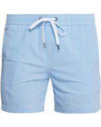 "Onia - Charles 5"" Seersucker Swim Shorts - Lyst"