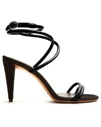 Isabel Marant - - Abigua Tie Ankle Leather Sandals - Womens - Black - Lyst