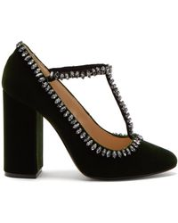 N°21 - Crystal Embellished Velvet Pumps - Lyst