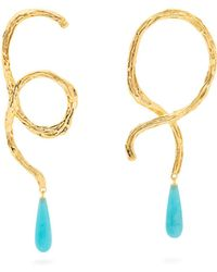 Lizzie Fortunato - Cursive Conch Shell Earrings - Lyst