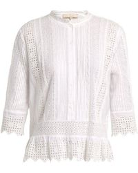 Vanessa Bruno - Irais Cotton-blend Blouse - Lyst