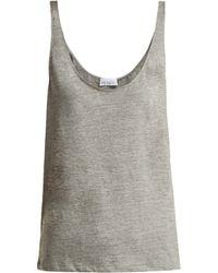 Raey - Skinny Strap Cotton Jersey Vest - Lyst