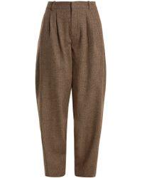 Chloé - Wide-leg Wool-blend Tweed Trousers - Lyst
