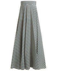 Diane von Furstenberg - Paxton Striped Silk Skirt - Lyst