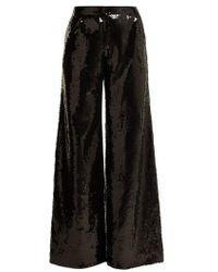 Halpern - Wide Leg Sequined Trousers - Lyst