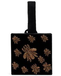 Sanayi 313 - Ragno Embroidered Velvet Box Clutch - Lyst