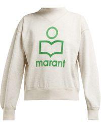 Étoile Isabel Marant - Sweat-shirt en coton mélangé à logo floqué Moby - Lyst