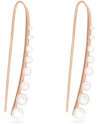 Sophia Kokosalaki - Meteorfall Pearl And Rose-gold Earrings - Lyst