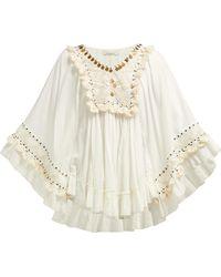 Mes Demoiselles - Bachata Embellished Cotton Top - Lyst