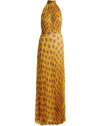 Raquel Diniz Giovanna Floral Print Silk Gown - Yellow
