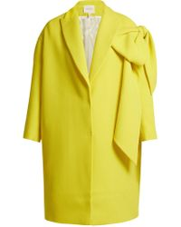 Delpozo - Bow-embellished Wool Coat - Lyst