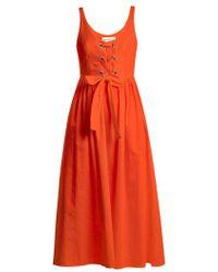 Mara Hoffman - Athena Lace Up Woven Dress - Lyst