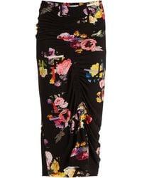 Preen By Thornton Bregazzi - Cosmia Posy-print Stretch Crepe Skirt - Lyst