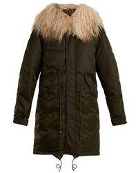 Mr & Mrs Italy - Mongolian Fur-lined Padded Bomber Jacket - Lyst