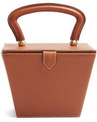 STAUD - Sadie Mini Leather Box Bag - Lyst