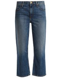 The Great - The Relaxed Nerd Mid-rise Kick-flare Jeans - Lyst