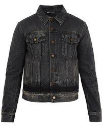Saint Laurent | Distressed Denim Jacket | Lyst