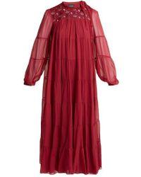 Giambattista Valli - Macramé Lace Tiered Silk-chiffon Dress - Lyst
