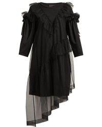 Simone Rocha - Ruffled Tulle-overlay Cotton T-shirt Dress - Lyst
