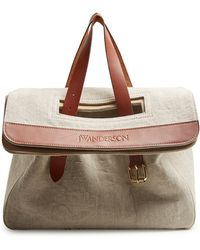 J.W.Anderson - Tool Leather-trimmed Canvas Tote - Lyst