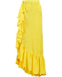 Attico - Asymmetric Jacquard Ruffle-skirt - Lyst