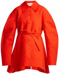 Awake | Raw-edge Tie-fastening Cotton Coat | Lyst