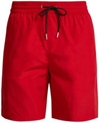 Burberry - Logo Side Striped Swim Shorts - Lyst