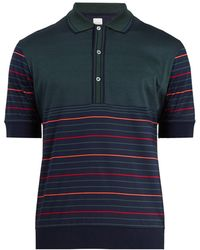 Paul Smith   Striped Cotton-knit Polo Shirt   Lyst