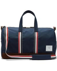 Thom Browne - Suede-trimmed Canvas Holdall - Lyst